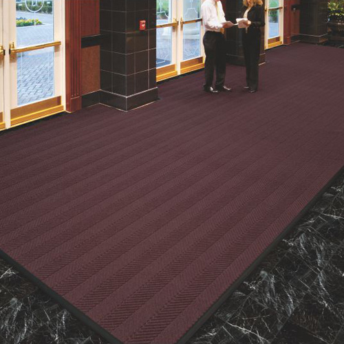 Waterhog Eco Elite Roll Goods Indoor Outdoor Matting 6 x 67 ft maroon entrance.