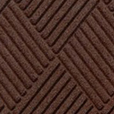 Waterhog Fashion Diamond Indoor Outdoor Entrance Mat 35x46 inches dark brown.