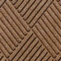 Waterhog Fashion Diamond Indoor Outdoor Entrance Mat 35x46 inches Medium Brown.
