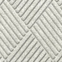 Waterhog Fashion Diamond Indoor Outdoor Entrance Mat 35x46 inches white.