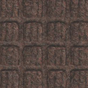 Waterhog Modular Tile Square Corner Border 18 inch Dark Brown.