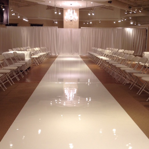 Event High Gloss Walkway Installation Red Commercial Vinyl Flooring