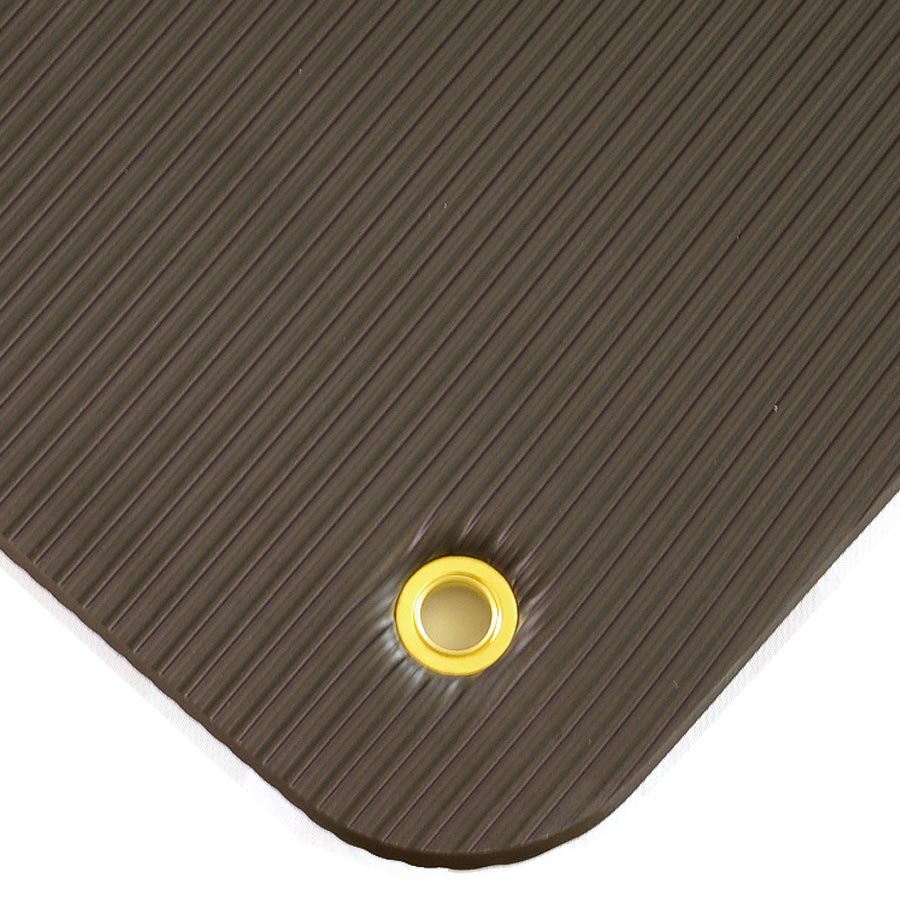 Exercise Mat Black Grommet.