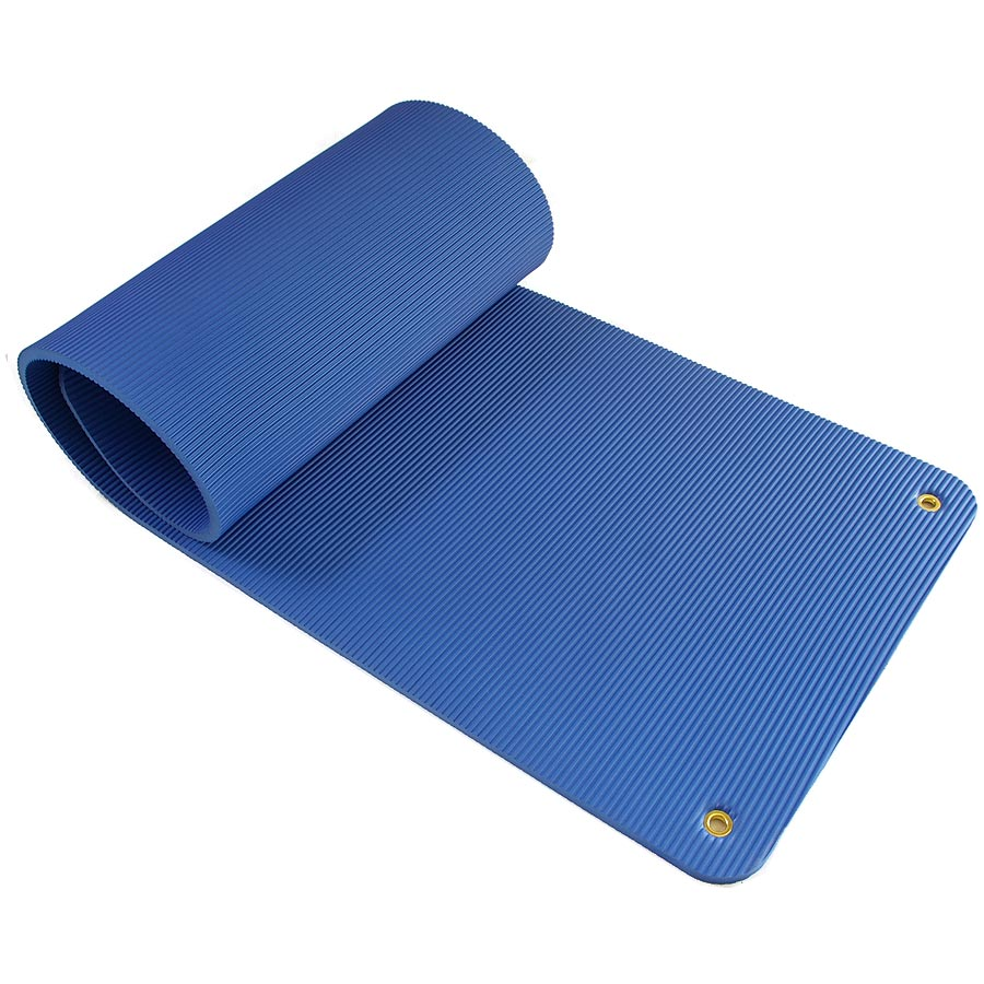 Exercise Mat Blue Rolled Up.