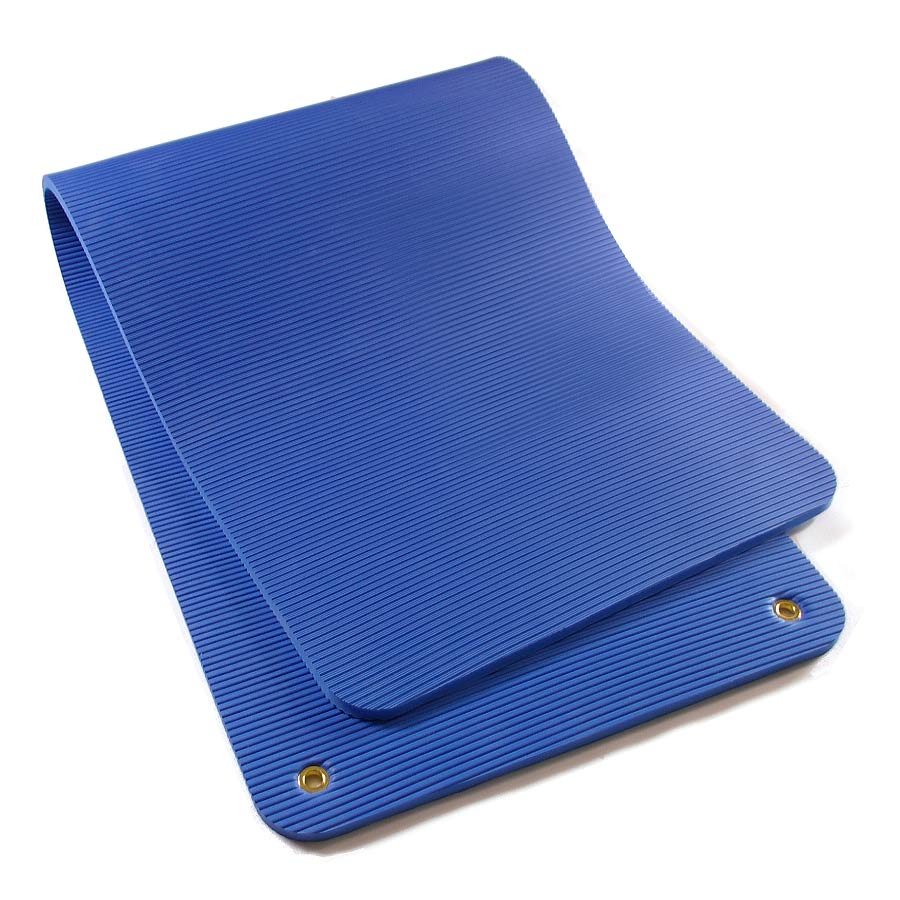 Exercise Mat Blue Folded.