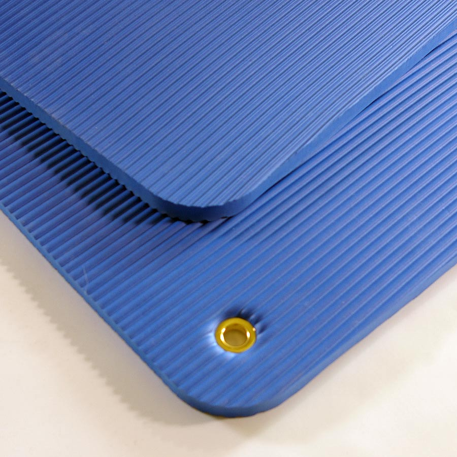 Exercise Mat Blue Grommets.