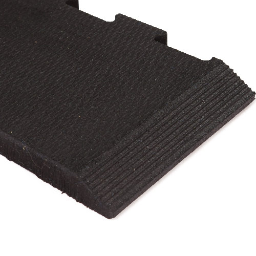 Rubber Tiles Waffle Bottom Anti Fatigue Flooring