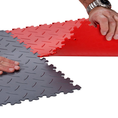 Diamond Plate Flooring Tile Pvc Interlocking Garage Tile Supratile