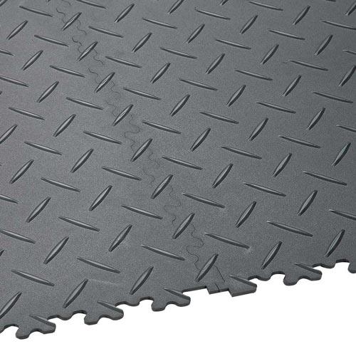 diamond plate floor tile - interlocking diamond plate tile flooring