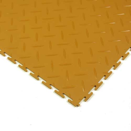 Diamond Plate Floor Tile Colors 8 tiles tan corner.
