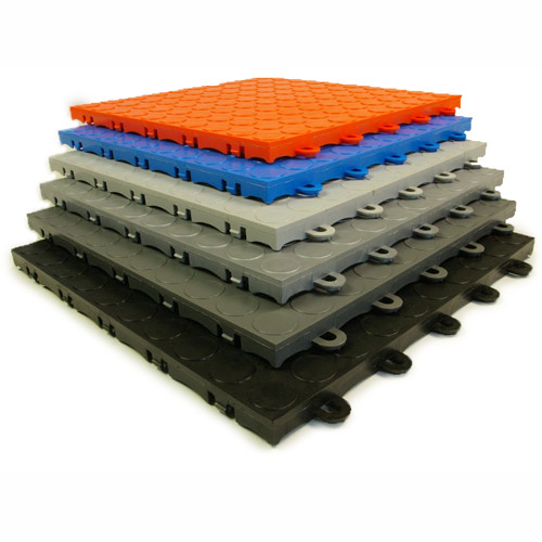 Garage Floor Tile Coin Top Plastic Garage Floor - Padded garage floor mats
