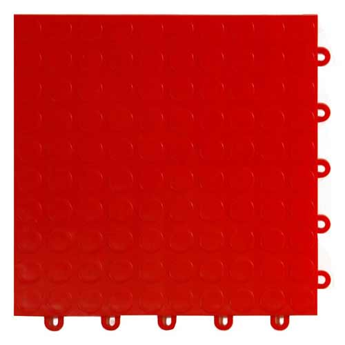 garage floor tile coin red tile
