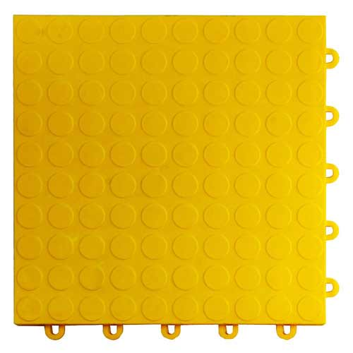 garage floor tile coin yellow tile