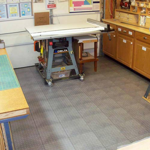 Home Garage Flooring - Snap Coin Plastic Tile