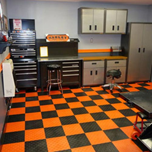 Snap Diamond Garage Tiles