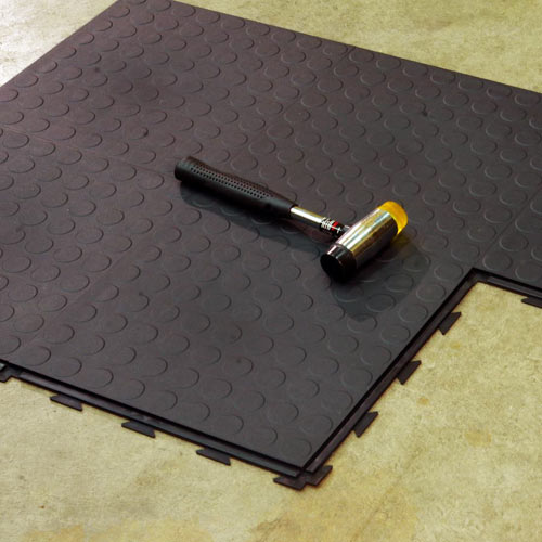 Warehouse Floor Tile Hiddenlock Coin Floor Tile Gray