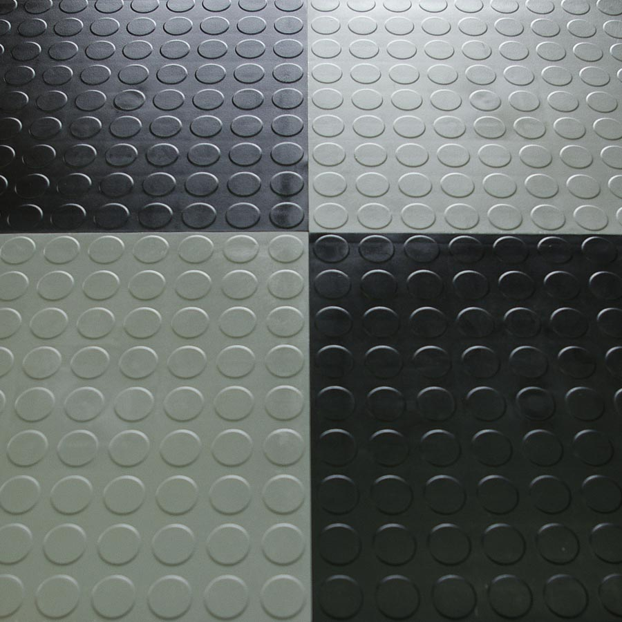 Hiddenlock Coin Floor Tile Black Black Gray