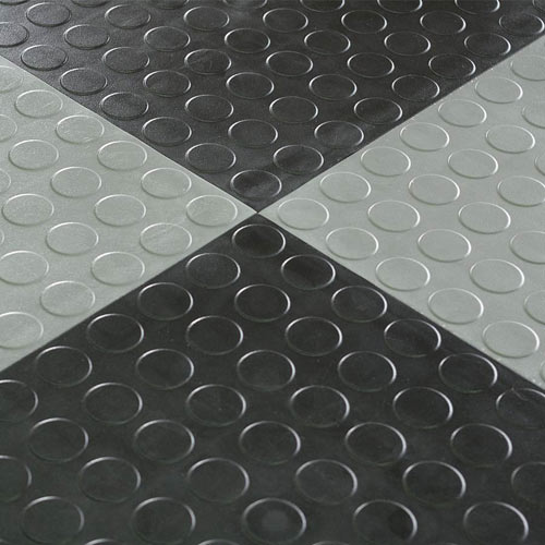 Warehouse Floor Tile Hiddenlock Coin Gray