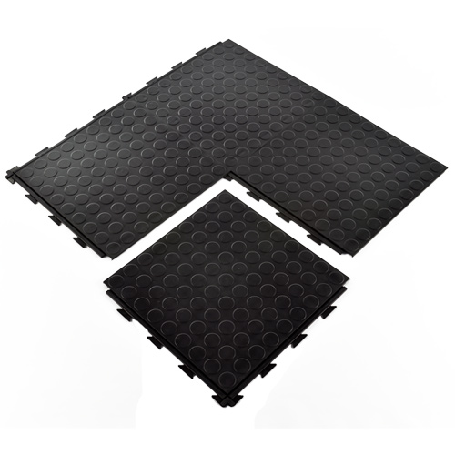 HiddenLock Coin Floor Tile Black quad.