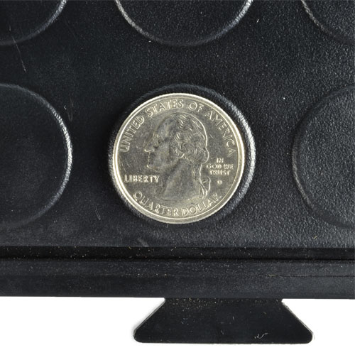 HiddenLock Coin Floor Tile Black quarter.