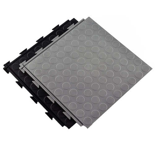 HiddenLock Coin Floor Tile Gray stack.