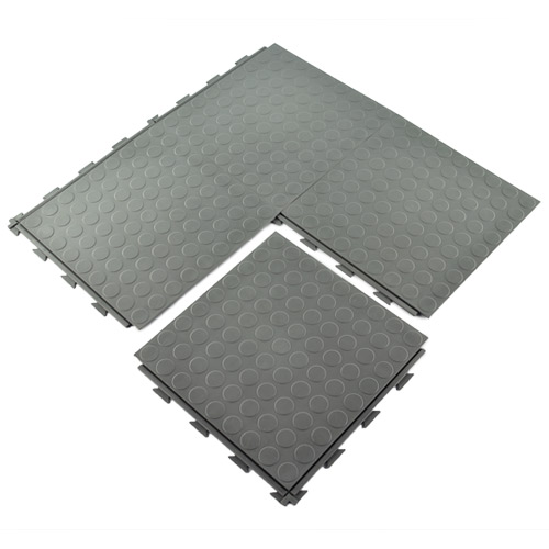 HiddenLock Coin Floor Tile Gray quad.