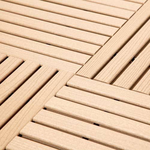 Beige GreatDeck Plastic Tile Installation