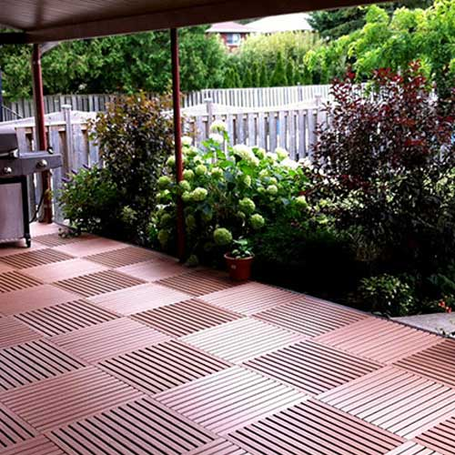 GreatDeck Outdoor Plastic Deck Tile Deck In Caramel