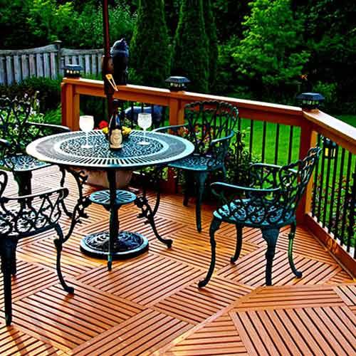 GreatDeck Outdoor Plastic Deck Tile Cedar Tone Deck
