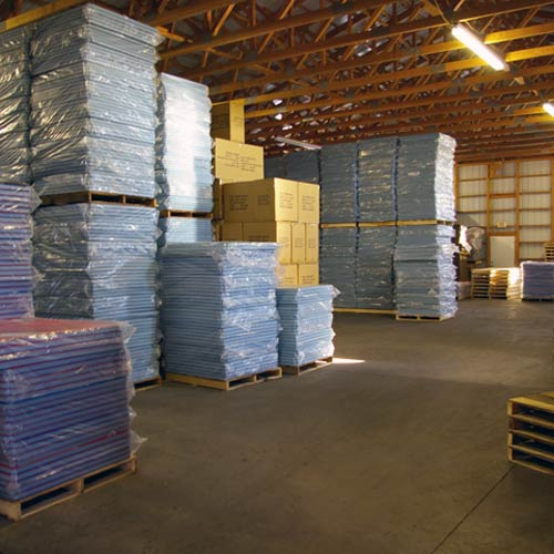 Greatmats warehouse and offices are over 20000 SF in size and house products for fast shipment.