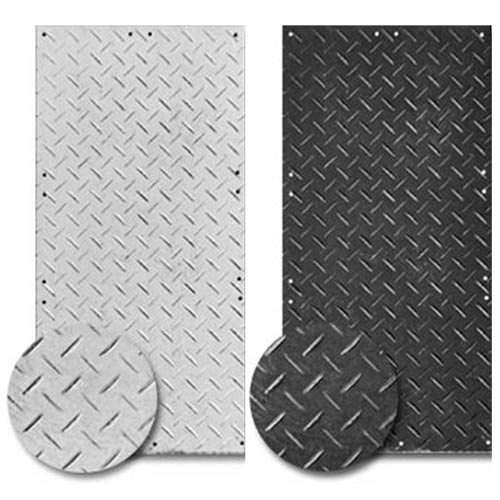 Ground Protection Mat-Pak 3x8 Ft White Mat-Pak Black and White mats
