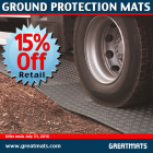 Ground Protection Mats 2x8 ft Black