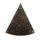 Wedge Piece for Ground Protection 3x8 ft Black