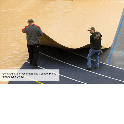 Vinyl Floor Cover 18oz Weight athletic center.