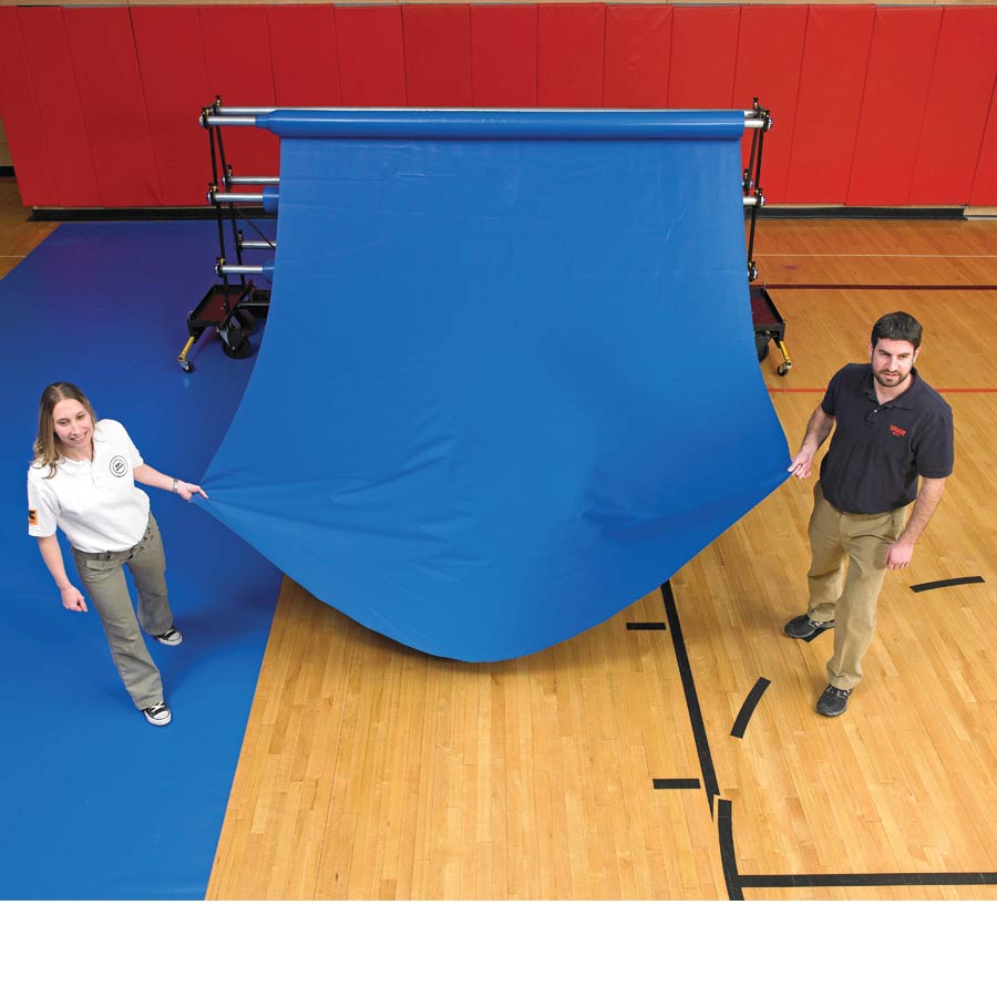 In Stock Gym Floor 22 Oz Vinyl Cover Rolls Protective