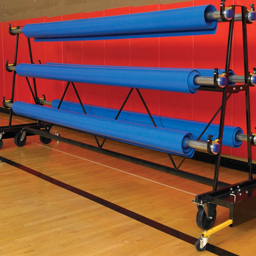 Premium Safety Storage Rack Mobile 10 Rollers