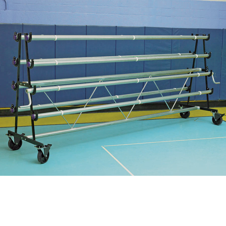 Safety Storage Racks 6 Rollers Mobile Storage For Gym