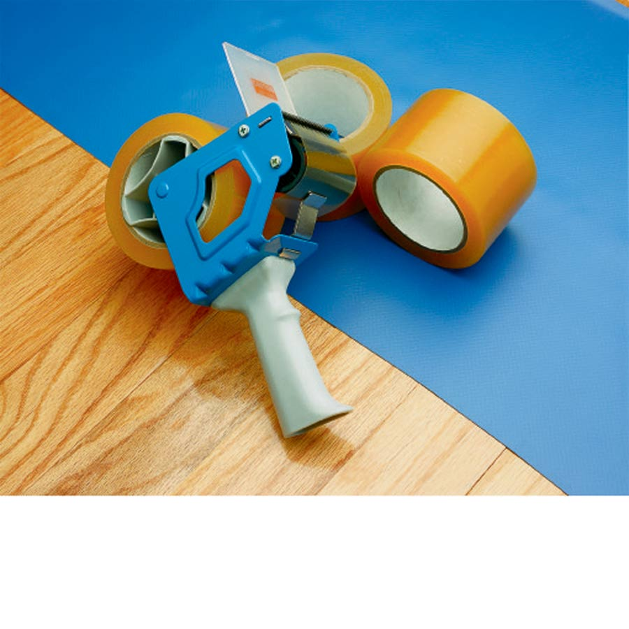 Hand Held Tape Dispenser 3 Inch With Vinyl Floor Tape.