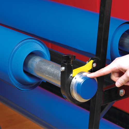 Premium Safety Storage Racks 8 Rollers safety collars.