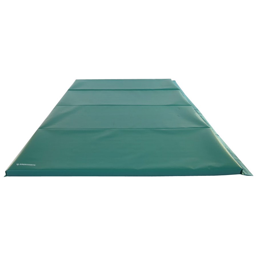 Gym Mats 4x8 Ft x 1.5 inch 4V 18oz green mat.