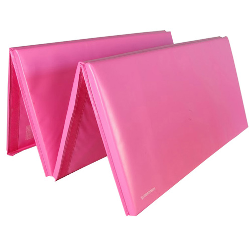 Gym Mats 4x8 Ft x 1.5 inch 4V 18oz pink mat.