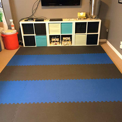Floor mats for exercise room gurus