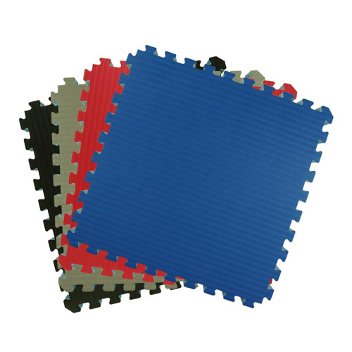 Home MMA BJJ Mats 2x2 Ft showing overhead view of colors stack.