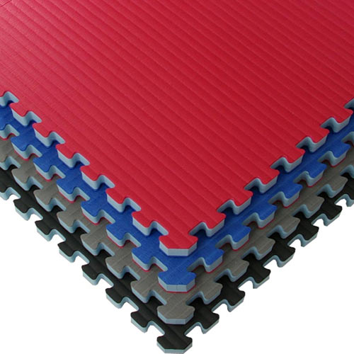 Home MMA BJJ Mats 2x2 Ft Stack of colors.