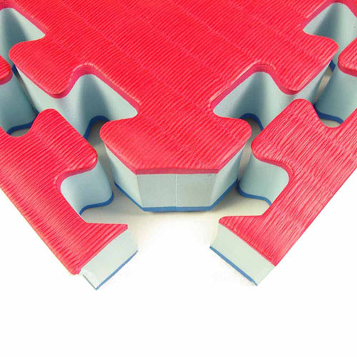 Home MMA BJJ Mats 1-5/8 Inch red corner.