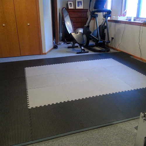 Home MMA BJJ Mats 1-5/8 Inch gray tiles.
