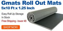 5x10 ft home roll out mat