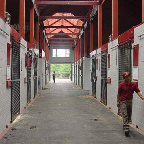 Horse Stall Mats Custom Kit Sizes hallway.