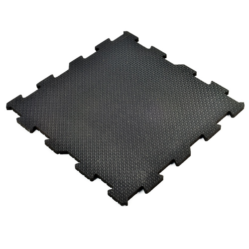 3 4 Inch Rubber Flooring 2x2 Ft Interlocking Tiles Gym