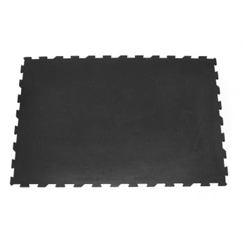 4x6 Ft x 3/4 Inch Interlocking Black Punter Top tile.